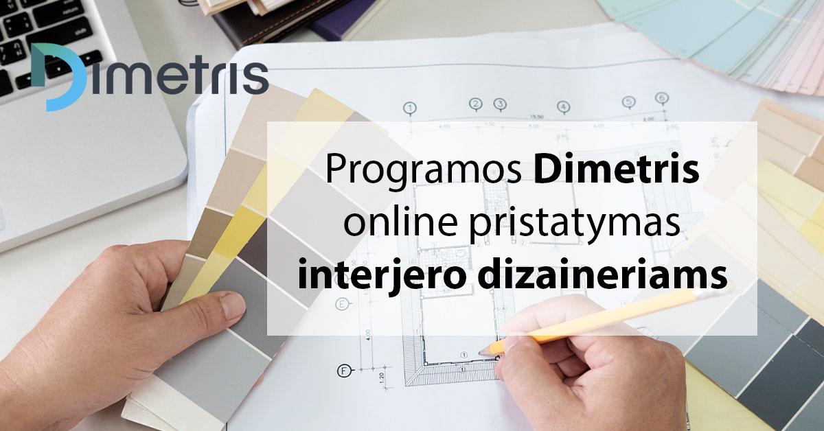 Online Dimetris programos pristatymas interjero dizaineriams